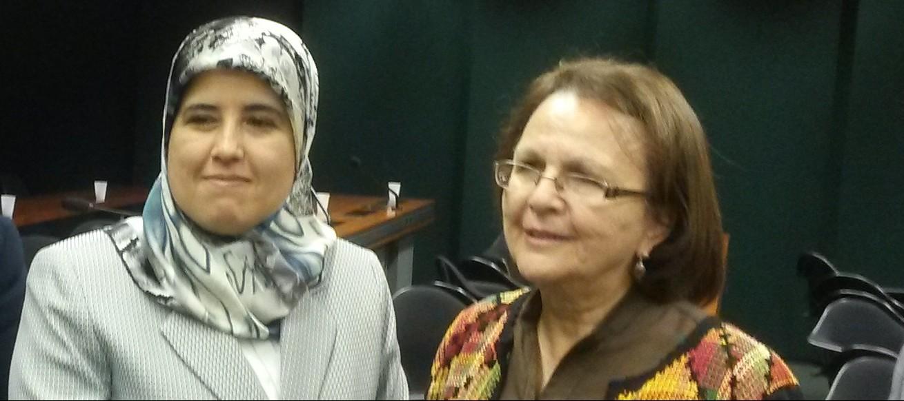 Presidenta de la CREDN con la diputada marroquí Jamila Moussalli